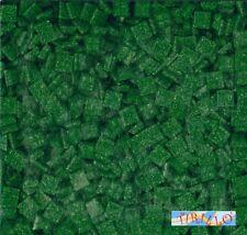 MOSAICO -Tessere mosaico pasta vetro 1x1 cm - 1 kg/1500 pz - Verde scuro