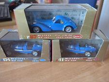 1:43 Brumm ORO 3x Bugatti Tipo 59 No 4 und No 28 57S Coupé