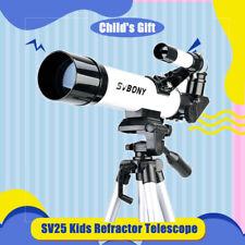 SVBONY SV25 Compact Kids Refractor Telescope Beginner+Optical FinderScope+Tripod