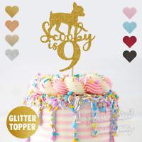 Personalised Custom Glitter Cake Topper,  Chihuahua Pet Dog Birthday