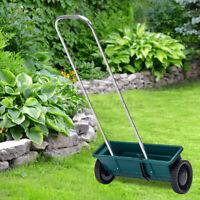 Hand Push Seeder Spreader Push Broadcast Fertiliser Garden Lawn Feed Truck US