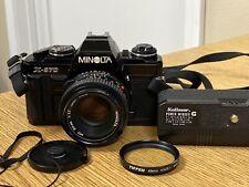 Minolta X-570 SLR 35mm Film Camera w/ MD 50mm 1:1.7 Lens & Tiffen Filter