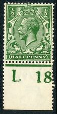 1918 ½d deep blue (myrtle) green wmk Royal C unused Spec N14(15).