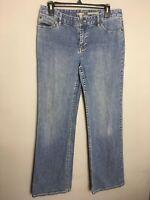 J Jill Jeans Authentic Fit Below Waist Women's 5 Pocket Light Medium Wash Size 8