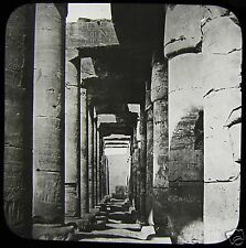 Glass Magic Lantern Slide INTERIOR OF TEMPLE OF OSIRIS C1900 EGYPT EGYPTIANS