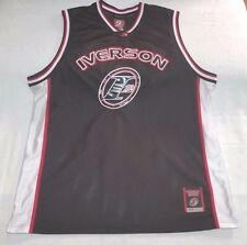 Reebok I3 Answer basketball jersey men sz XL Allen Iverson Vtg 90s black/red