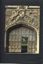 View Of The Main Gate To Christ College, Cambridge.