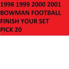 1998 1999 2000 2001 Bowman Football Cards Finish Your Set PICK 20