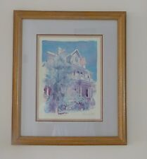 "LITHOGRAPH CURRY MANSION FRAMED R. E. KENNEDY KEY WEST NUMBER 18 X 21"" BEACH"