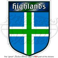 Highlands scudo scozia scozzese 100mm auto-moto adesivo in vinile, décalcomanie