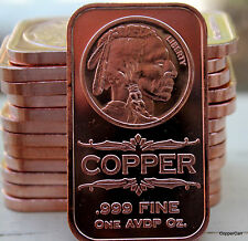 5 Different Piece 1 Oz. 999 Fine Copper Bullion Art Ingots Full Mint Collection