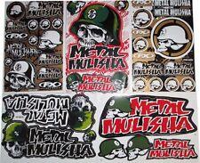 New Skull Metal Mulisha StickersDecalsMotocross  Bike and  Car Racing 5 sheets