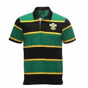 Welsh rugby shirt SA jersey green and gold Wales top