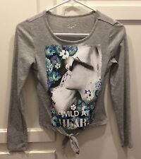 "JUSTICE Sz 10 Girls ""Wild At Heart"" Top Long Sleeve Shirt"