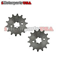 2 PACK 420 14T 17MM FRONT SPROCKET FOR LIFAN LONCIN ATV PIT BIKE 70 125 140 CC