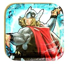 "NEW ~THOR THE MIGHTY AVENGER  8- DESSERT PLATES 7"" SQ.-  PARTY SUPPLIES"