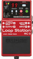 BOSS Audio RC-3 Loop Station USB 2.0 Compact Stompbox Guitar Bass Looper Pedal
