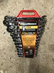 Gearwrench 13 Piece SAE Ratcheting Flexible Head Wrench