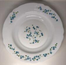 Plat De Service Creux Arc Arcopal France Fleurs Bleues Myosotis D 28,8 Cm N1