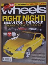 Wheels Jun 2009 HSV Clubsport R8 Mitsubishi Lancer EVO X Mazda 3 MPS & SP25
