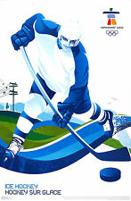 Vtg Orig. Sport Poster Vancouver Olympic Games 2010 Ice hockey
