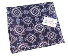 NWT Italo Ferretti Navy Blue Macclesfield Geometric Print Pocket Square NEW