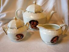 M.J. Hummel Umbrella Kids Porcelain Tea Set Danbury Mint