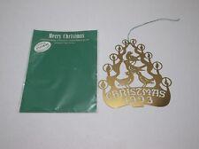 Vintage Biedermann Christmas Ornament 1993 BRASS