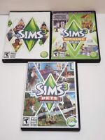 Lot of 3: The Sims 3 PC games: The Sims 3, The Sims 3 Pets, The Sims 3 Town Life