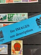 China assortment Mh stamps on pages cat number written with pencil on backside