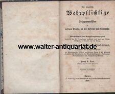 Original 1869! Der bayerische Wehrpflichtige vor der Ersatzcommission Militär