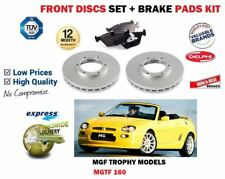FOR ROVER MG F MGF 1.8 VVC TROPHY 160 2001-2009 FRONT BRAKE DISCS SET + PADS KIT