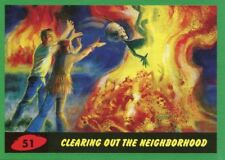 Mars Attacks The Revenge Green Base Card #51 Clearing out the Neighborhood