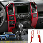 Car Auto Red Center Console Panel Cover Trims Fit For Ford F-150 2015-2017 Parts