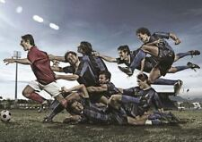 FOOTBALL SOCCER UNSTOPABLE PLAYERS A3 ART POSTER GZ322
