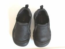 Keen Boys Black Leather Slip On Loafers  US 10