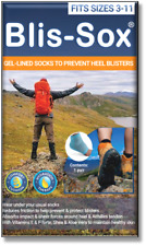 Blis-Sox - Prevent Heel Blisters - Size: 3-11 - Blue