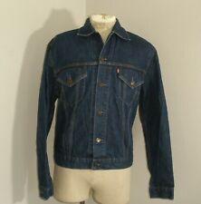 Vintage Levi'S Levis 70500 unlined Denim Blue Jean Trucker Jacket Large 44