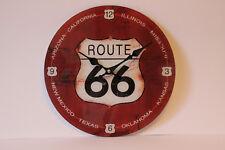 runde stylische Wanduhr Glas Route 66 Durchmesser 30 cm