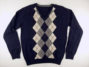 J271 GANT 100% lambs wool jumper sweater fits L, excellent condition!