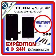 ECRAN LCD IPHONE 7/7 plus 8/8+ XR NOIR/BLANC VITRE TACTILE SUR CHASSIS ASSEMBLÉE
