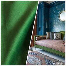 Designer Velvet Upholstery & Drapery Fabric -Kermit Green- By The Yard