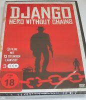 Django - Hero without Chains - 3 DVDs/NEU/OVP/Western/9 alte Filme/FSK 18