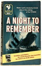 A NIGHT TO REMEMBER, by Walter Lord —(the Titanic)— Bantam pb #1539 (Oct., 1956)
