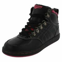 LADIES BLACK PINK CASUAL LACE UP HI-TOP TRAINERS / ANKLE BOOTS-MERCURY JACKIE CC