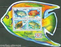 SAO TOME 2015 FISH OF SINGAPORE SHEET MINT NH
