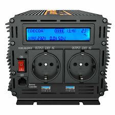 EDECOA Convertitore 12V 220V Onda Pura 2000W 4000 watt  Inverter LCD 2.1A USB