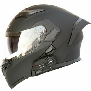Bluetooth Motorcycle Helmet Flip Up Modular Moto Helmets With Tail DOT Approval