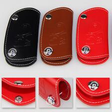 Leather Car Key Fob Case Holder Remote Wallet Keychain Bag For BMW Mercedes-Benz