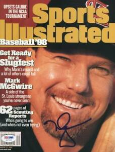 Cardinals Mark Mcgwire Authentic Signed Sports Illustrated 1998 PSA/DNA #H17245